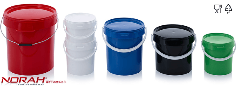 Plastic pails with tamper evident lid