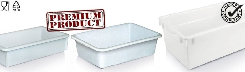 Plastic tubs and nesting containers