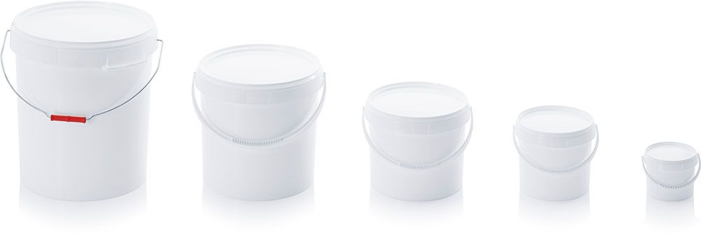 Round pails with tamper evident lid