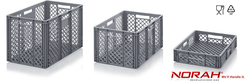 Stackable containers perforated version